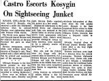 Castro Escorts Kosygin on...