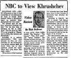 NBC to View Khrushchev