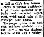 90 Golf in City's Free Lessons