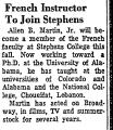 French Instructor to Join Stephens