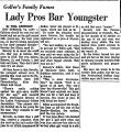 Lady Pros Bar Youngster