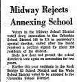 Midway Rejects Annexing School