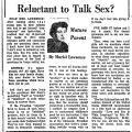 Reluctant to Talk Sex?