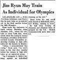 Jim Ryun May Train as Individual...