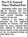 New U. S. General Takes Thailand...