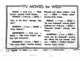 TV Movies for Week