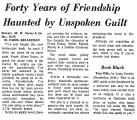 Forty Years of Friendship Haunted...