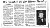 It's Number 83 for Harry Monday
