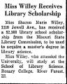 Miss Willey Receives Library...