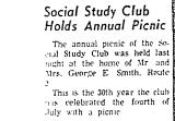 Social Study Club Holds Annual...