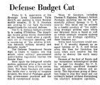 Defense Budget Cut