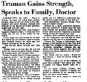 Truman Gains Strength, Speaks to...