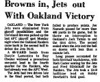 Browns in, Jets out with Oakland...