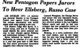 New Pentagon Papers Jurors to...