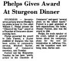 Phelps Gives Award at Sturgeon...