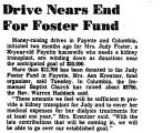 Drive Nears End for Foster Fund