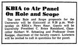 KBIA to Air Panel on Role and...