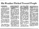 His Weather Pitched toward People
