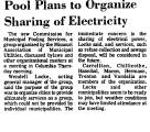 Pool Plans to Organize Sharing of...