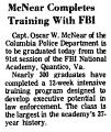 McNear Completes Training with FBI