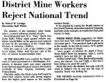 District Mine Workers Reject...