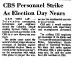 CBS Personnel Strike as Election...