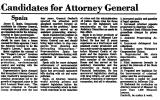 Candidates for Attorney General