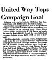 United Way Tops Campaign Goal