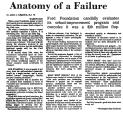 Anatomy of a Failure