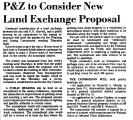 P&Z to Consider New Land Exchange...