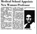 Medical School Appoints New Woman...