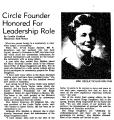 Circle Founder Honored for...