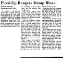 Fired-up Rangers Dump Blues