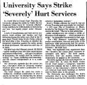University Says Strike 'Severely'...