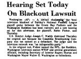 Hearing Set Today on Blackout...