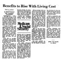 Benefits to Rise with Living Cost