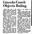 Lincoln Coach Objects Ruling