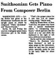 Smithsonian Gets Piano from...