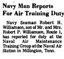 Navy Man Reports for Air Training...