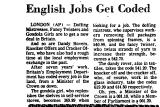 English Jobs Get Coded