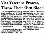 Viet Veterans Protest, Throw...