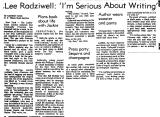 Lee Radziwell: `I'm Serious About...