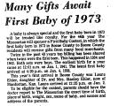 Many Gifts Await First Baby of...