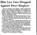 Blue Law Case Dropped Against...