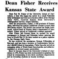 Dean Fisher Receives Kansas State...
