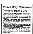 United Way Donations Increase...