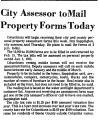 City Assessor to Mail Property...