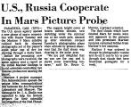 U. S., Russia Cooperate in Mars...