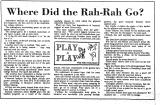 Where Did the Rah-Rah Go?