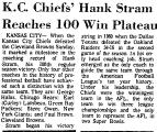 K. C. Chiefs' Hank Stram Reaches...